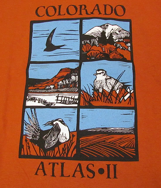 Colorado Breeding Bird Atlas II T-shirt